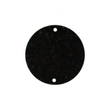 Пайетки россыпью, блестки пришивные, круг, 30мм, цвет черный+хамелеон