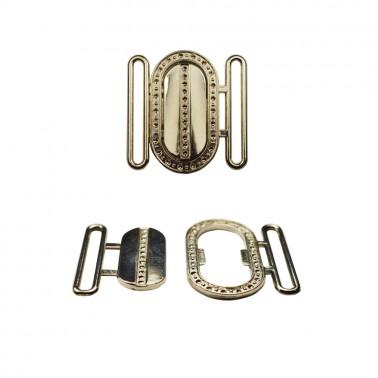 Пряжка металлическая папа-мама, 4см, цвет никель