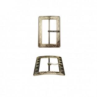 Пряжка металлическая, 6см, цвет никель