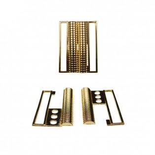Пряжка металлическая папа-мама, 6см, цвет светлое золото