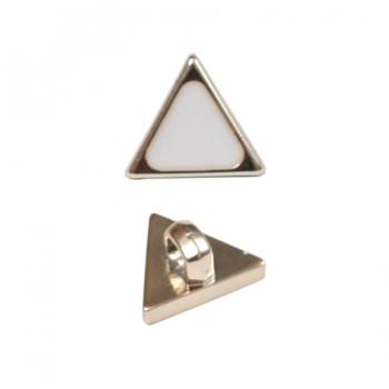 Пуговица металлизированная, 20L, цвет золото-белый