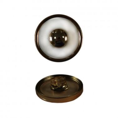 Пуговица металлизированная, 18L, цвет прозрачный+оксид