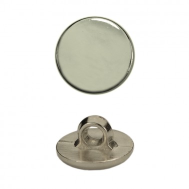 Пуговица металлиз, 20L, цвет никель, на ножке