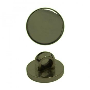 Пуговица металлиз, 24L, цвет оксид, на ножке
