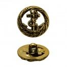 Пуговица металлизированная, 34L, цвет золото