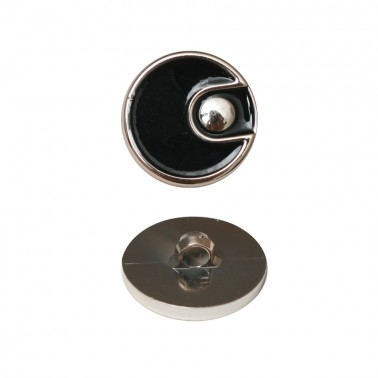 Пуговица металлизированная, 40L, цвет золото+черный