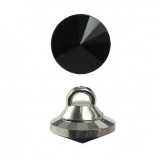 Пуговица-страза, 16L, цвет черный