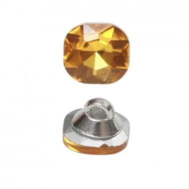 Пуговица-страза, 18L, цвет золото, на ножке