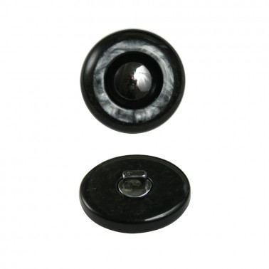 Пуговица металлизированная, 48L, цвет черный