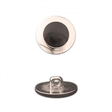 Пуговица металлизированная, 26L, цвет золото+черный