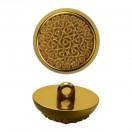 Пуговица металлизированная, 44L, цвет золото+бежевый