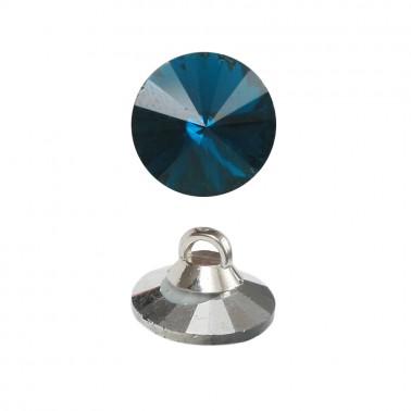 Пуговица-страза, 20L, цвет синий
