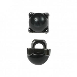 Пуговица металлизированная, 16L, цвет оксид+черный