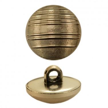 Пуговица металлиз, 28L, цвет золото, на ножке