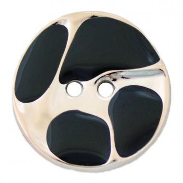 Пуговица металлизированная, 28L, цвет золото+черный