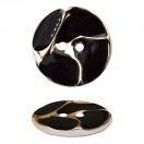 Пуговица металлизированная, 34L, цвет золото+черный