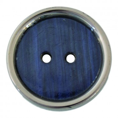 Пуговица металлизированная, 24L, цвет оксид+темно-синий
