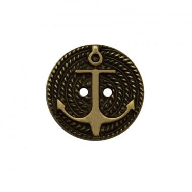 Пуговица металлизированная, 20L, цвет черненое серебро