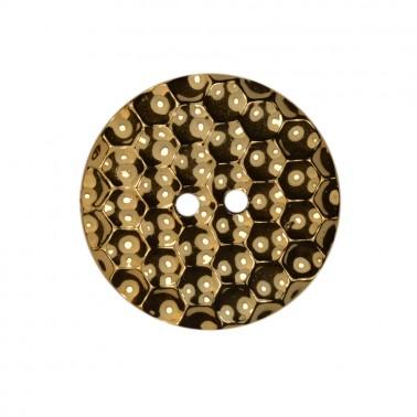 Пуговица металлизированная, 48L, цвет золото
