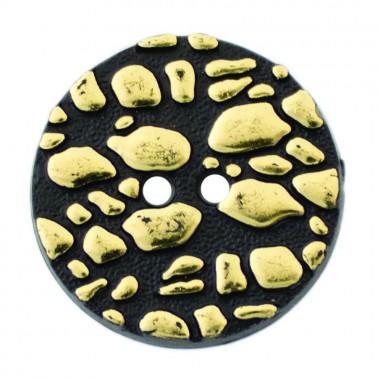 Пуговица металлизированная, 32L, цвет золото, 2 прокола