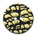 Пуговица металлизированная, 36L, цвет золото, 2 прокола