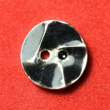 Пуговица металлизированная, 20L, цвет никель+черный, 2 прокола