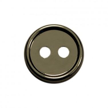 Пуговица металлизированная, 16L, цвет оксид, 2 прокола