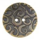 Пуговица металлизированная, 48L, цвет антик, 2 прокола