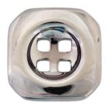 Пуговица металлизированная, 28L, цвет оксид, 4 прокола