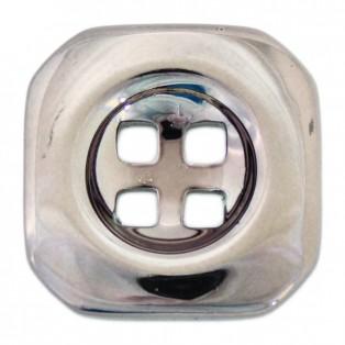 Пуговица металл, 44L, цвет оксид, 4 прокола