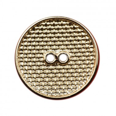Пуговица металлизированная, 36L, цвет крашенное золото