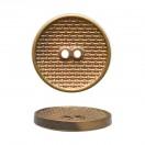 Пуговица металлизированная, 40L, цвет антик