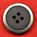 Пуговица металлизированная, 44L, цвет оксид+черный, 4 прокола
