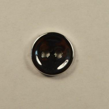 Пуговица металлизированная, 18L, цвет никель