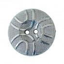 Пуговица металлизированная, 40L, цвет оксид, 2 прокола