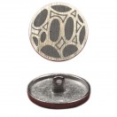 Пуговица металлическая, 28L, цвет никель+черный
