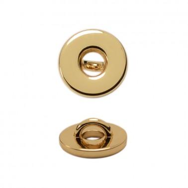 Пуговица металл, 16L, цвет золото