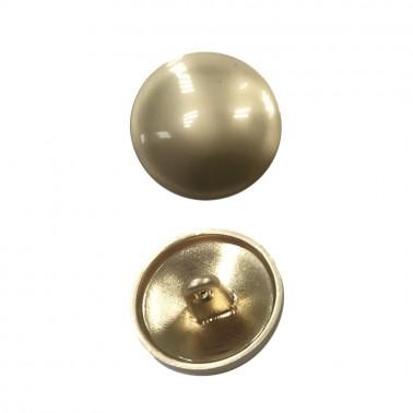 Пуговица металлическая, 36L, цвет матовое золото