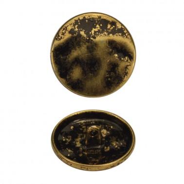 Пуговица металлическая, 40L, цвет антик с чернением