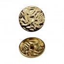 Пуговица металлическая, 48L, цвет золото