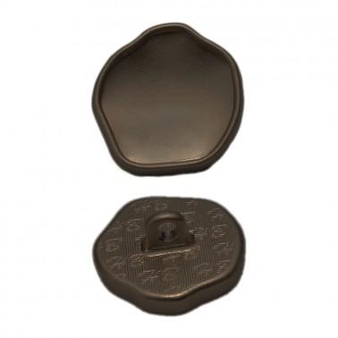 Пуговица металлическая, 26L, цвет гематит