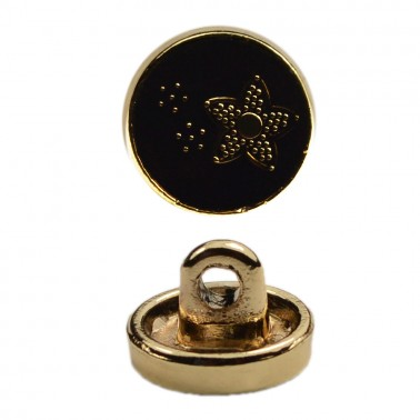 Пуговица металлическая, 16L, цвет золото+черный