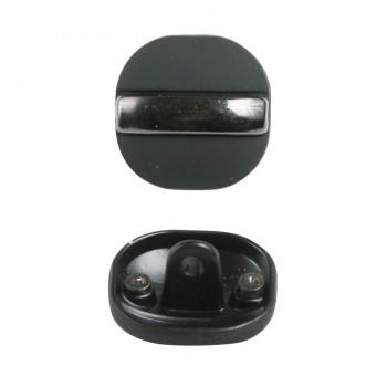 Пуговица металлическая, 36L, цвет черный+оксид