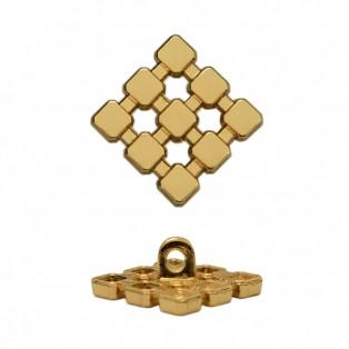 Пуговица металлическая, 15*15мм, цвет золото