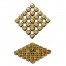 Пуговица металлическая, 20*20мм, цвет золото