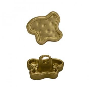 Пуговица металлическая, 11*9мм, цвет матовое золото