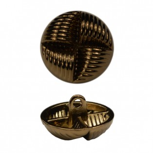 Пуговица металлическая, 40L, цвет антик