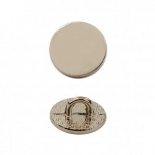 Пуговица металлическая, 26L, цвет никель