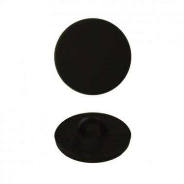 Пуговица металлическая, 12L, цвет черный тач