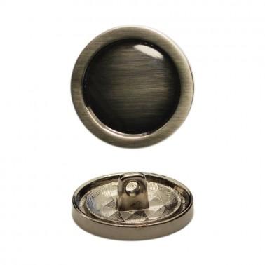 Пуговица металл, 32L (20мм), цвет оксид